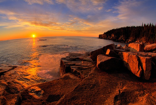 National Parks and Parkways of the East- Acadia Sunrise- www.afriendafar.com #maine #acadianp