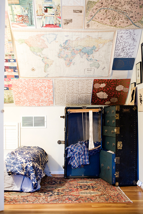 Map on the Ceiling - Maps in Home Decor - www.AFriendAfar.com