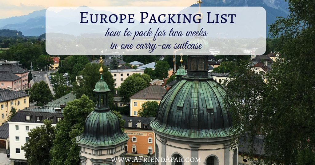 Europe Packing List - AFriendAfar.com