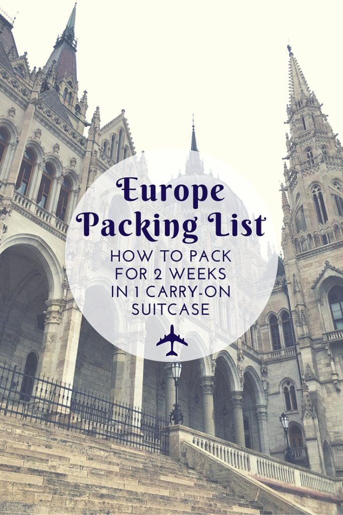 Printable Summer in Europe Packing List - A Friend Afar