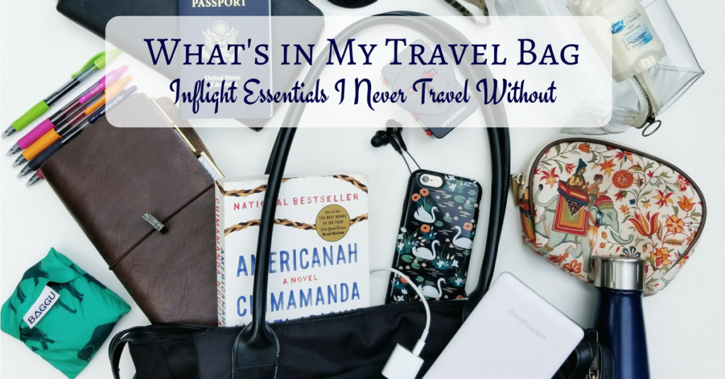 What's In My Travel Bag - Inflight Essentials